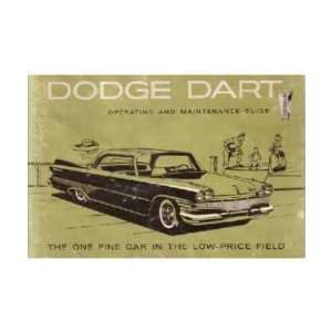 1960 DODGE DART Owners Manual User Guide Automotive