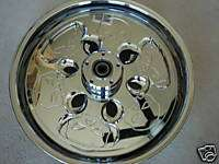 HARLEY DAVIDSON CHROME SPINNING WHEEL W SKULLS NEW