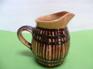 Vintage french Yellow WINE POTTERY Pitcher