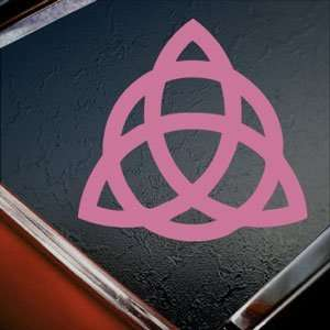TRIQUETRA TRINITY KNOT Pink Decal Truck Window Pink