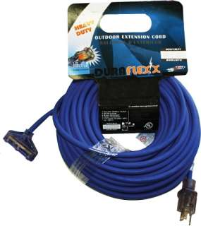 DuraFlexx 140009 Cord Extension 100 ft x 12/3 Triple Tap Lighted end