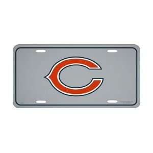 Chicago Bears Reflective Steel License Plate
