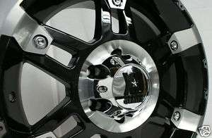 17 18 20 Inch Black KMC XD Series Spy Wheels Rims Mach