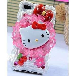 Cute Pink Crystal Hello Kitty 3D Cake Style/Ice cream Cake