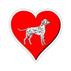 Dalmatian Love   Window Bumper Sticker Automotive