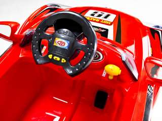 Red Hot Racer Kids Battery Power Ride On Car  & RC Remote Sport