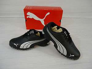 NEW 2012 MENS PUMA SPARK SPORT GOLF SHOES (BLACK WHITE YELLOW) MEDIUM