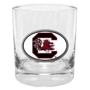 South Carolina Gamecocks NCAA Team Logo Double Rocks Glass Sports