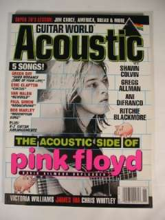 1998 Guitar World Acoustic Pink Floyd Eric Clapton