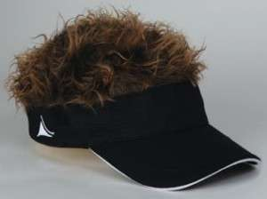 cap hat with wig hair visor golf, baseball hat fits all adjustable
