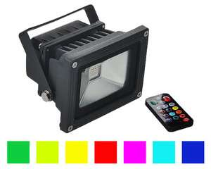 10w LED RGB Remote Control Color Flood Light Outdoor Wall Wash Lamp