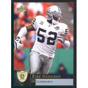 Kirk Morrison   Raiders   2009 Upper Deck NFL Football Trading Card in