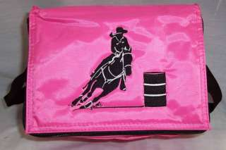 Barrel Racing Racer Horse cooler lunch box Koozie NEW