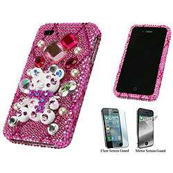 iPhone 4 Teddy Bear Rhinestone Protector Case
