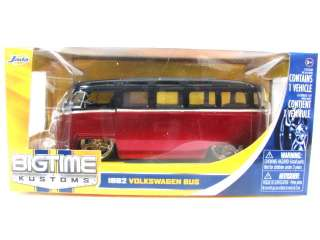 JADA 1962 VOLKSWAGEN BUS VAN C/W 1/24 RED Diecast Car