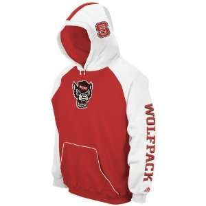 adidas North Carolina State Wolfpack Red Helmet Hoody Sweatshirt