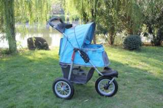 Beige/Blue/Pink/Red Pet Jogger Jogging Dog Cat Stroller Carrier