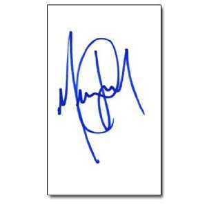MICHAEL JACKSON Signed Index Card In Person Everything