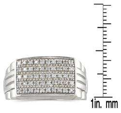 10k White Gold 1/4ct TDW Mens Diamond Ring (H I, I1 I2)