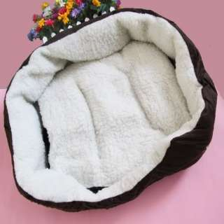 Colors Pet Puppy Dog Cat Kitten Soft Fleece Winter Warm Bed House
