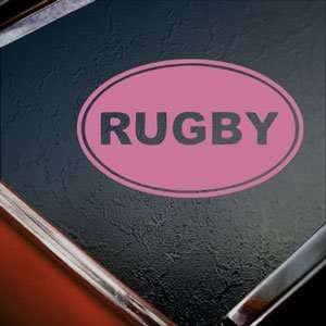 Rugby EURO OVAL Pink Decal Car Truck Bumper Window Pink