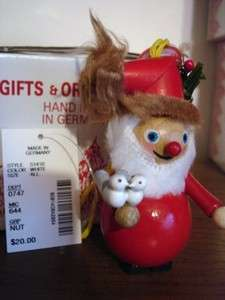 NEW STEINBACH SANTA Wood Ornament Hand Made in Germany Wooden NIB Gift