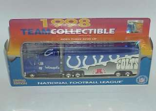 1998 INDIANAPOLIS COLTS DIE CAST TRUCK WHITE ROSE
