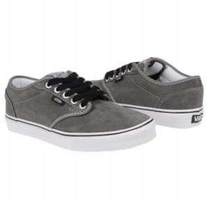 VANS KIDS ATWOOD Skate Shoes GUNMETAL WHITE 10.5 3 NWT