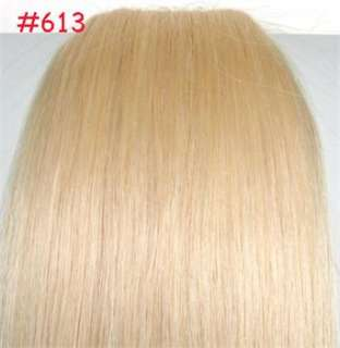 22 10pcs Clip In Real Human Hair Extensions Multiple 9 Colors ,Good