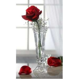 Baroque Crystal Flower Bud Vase 9 Inches Patio, Lawn