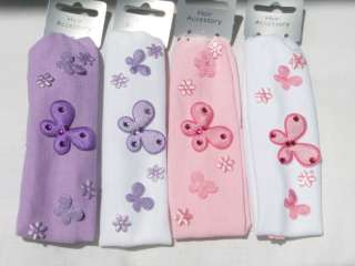 BABY, GIRLS BUTTERFLY BANDEAU HEADBAND HAIR BAND