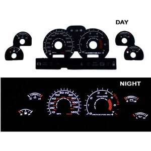 94 98 Ford Mustang V6 Black/(white Light) Glow Gauge