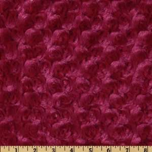 58 Wide Minky Rose Cuddle Wine Fabric By The Yard Arts