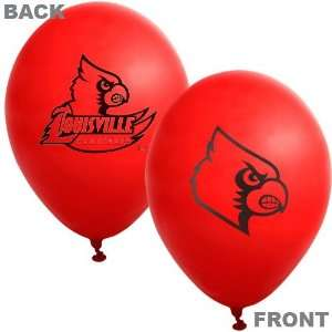 NCAA Louisville Cardinals Red 10 Pack 11 Latex Balloons