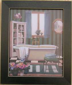 Bath Prints Tub Framed Country Picture Print Art