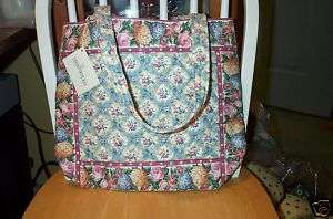 Retired New Vera Bradley Rare Pastel Blue Tote Bag