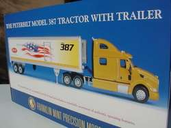 FRANKLIN MINT THE PETERBILT MODEL 387 TRACTOR WITH TRAILER