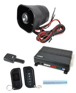 ONE WAY CAR SECURITY ALARM SYSTEM REMOTE ENGINE START & KEYLESS ENTRY