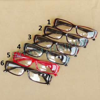 Slim Red/Black/Tea/Blue Frame Clear Lens Glasses Thin Fashion