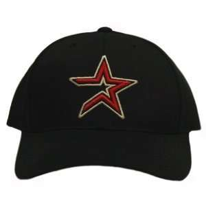 Astros Cherry Red Star On Smooth Black Snapback Hat