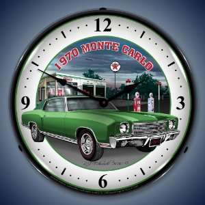 Clock GMRE1005250 14 1970 Monte Carlo Green Lighted Clock Automotive