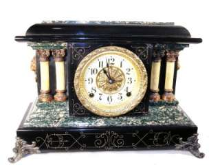 Beautiful Original Antique Seth Thomas Adamantine Mantle Clock   circa