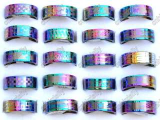 Wholesale Mix 80pcs stainless steel rings 4style
