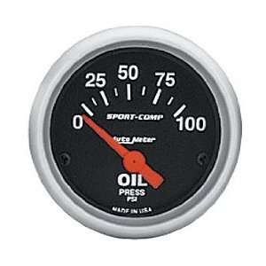 Meter 3522 2 5/8 0 100 PSI Short Sweep Electric Oil Pressure Gauge
