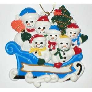 Custom Personalized Family Snowman Christmas Ornament