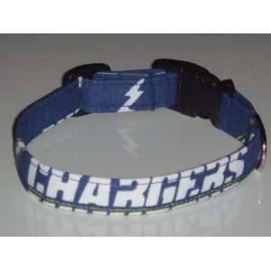 Chargers Football Dog Collar Style 2 X Small 1/2
