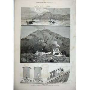 1880 Railway Mount Vesuvius Train Station Observatory