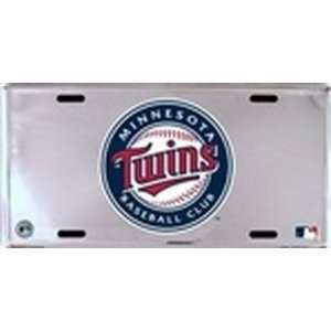 Minnesota Twins Chrome Aluminum License Plate Everything