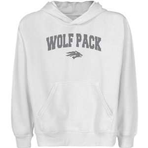 Nevada Wolf Pack Youth White Logo Arch Pullover Hoody Sports