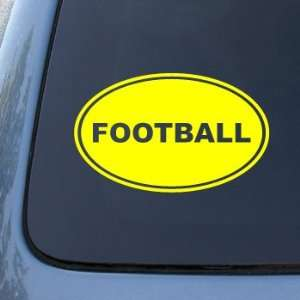 FOOTBALL EURO OVAL   Sports Foot Ball   Vinyl Car Decal Sticker #1707